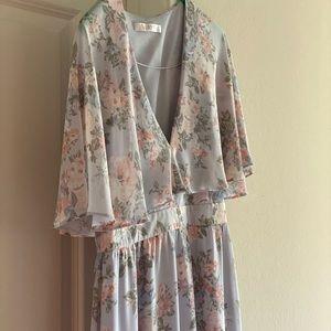 Adorable floral maxi dress